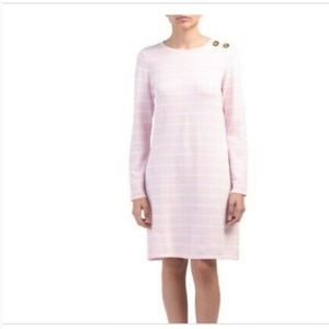 NWT STS Pink Striped Long Sleeve Dress (S)
